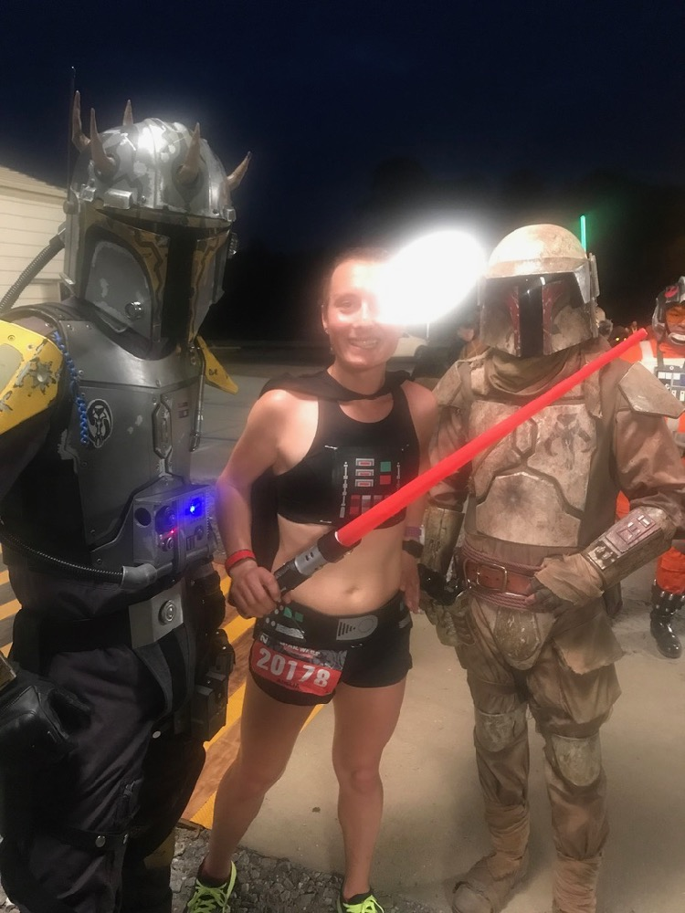 Amelia selfie runDisney Star Wars Dark Side Half Marathon