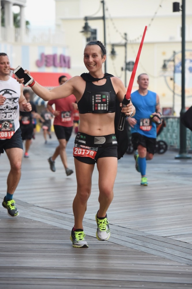 Amelia at runDisney Star Wars Dark Side Half Marathon