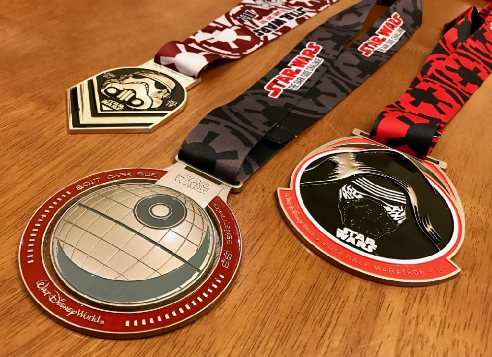 runDisney Star Wars Dark Side Challenge Medals