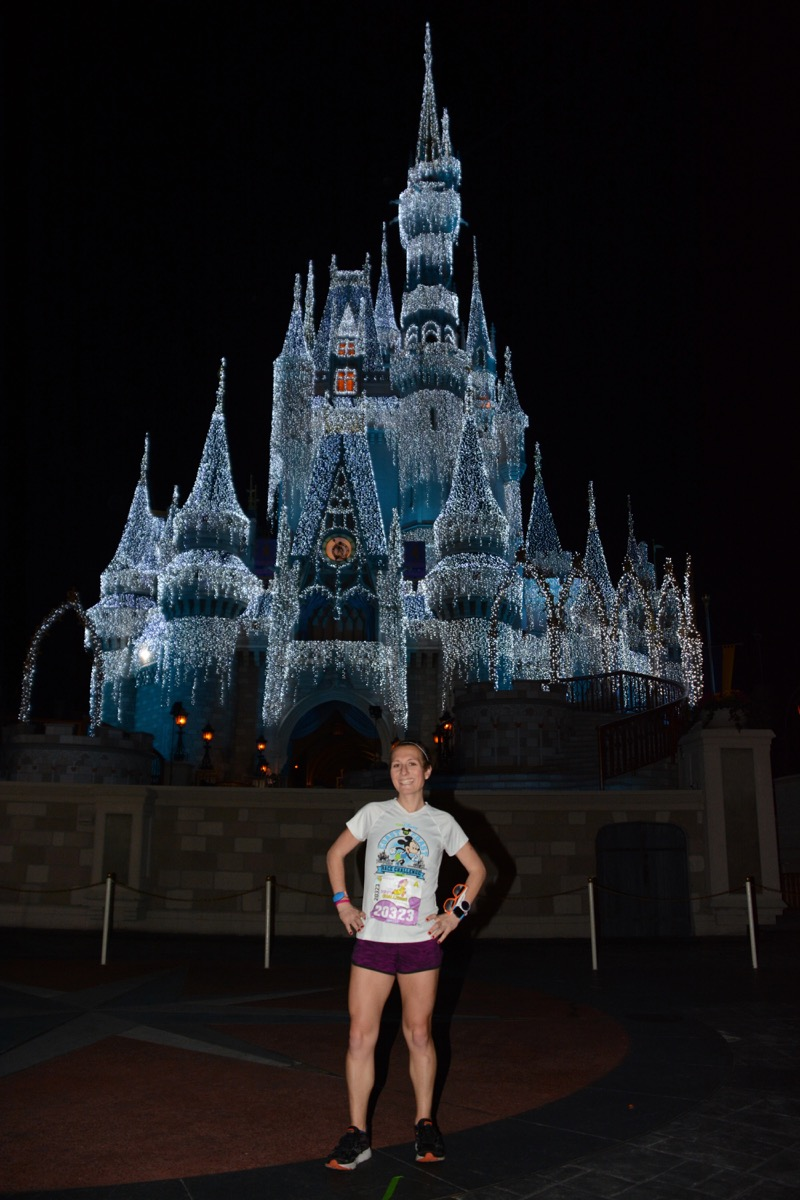 Amelia in front of Cinderella's Castle