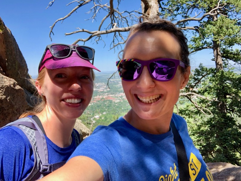 Amelia and Katherine on the Flatirons