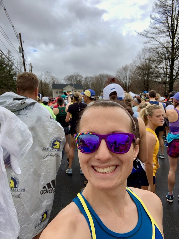 Selfie of Amelia at the start of the race